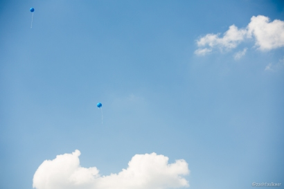 """Granted, these aren't 99 Red Balloons In The Sky, but I thought the day could use a little touch of """"art""""...."""