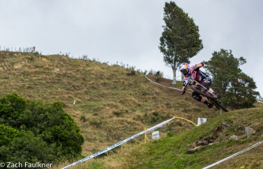 Brook scrubbing the nub at the top of the top of the Rotorua DH track.
