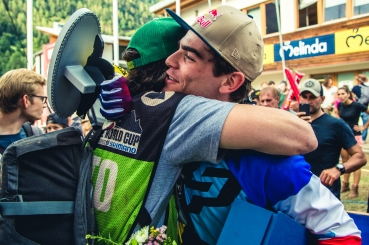 Loic and Boris hug it out after a wild season.