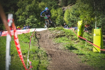 One of the many Junior French riders on the World Cup circuit, Thiabalt Laly was keen to put on a performance for his home crowd.