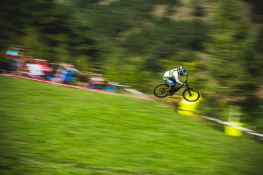 """It's Sam Hill...one doesn't need a reason to run a photo of Sam Hill (it is crisp though, and classic """"Hill Style""""). An injury-plagued season, we all are hoping to see Sam heal up in the off season and come back ready to hit hard next year."""