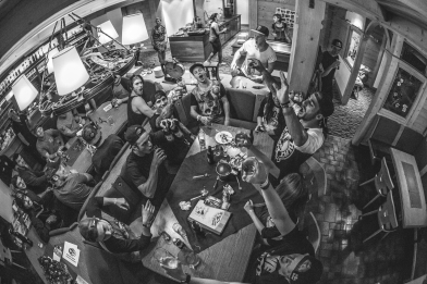 The Freeride Tour event at Leogang was held in conjunction with the Downhill race, and let's just say those boys know how to party...lots of heavy hitters in this picture including Ryan Nyquist, Steve Peat, Sam Pilgrim and Reynalds.