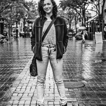 A long-time friend from college, I bumped into Andy while I was eating sushi under a tree. She's a remarkable woman, and it made each of our days seeing each other. || Summer 2015 | Burlington, VT||