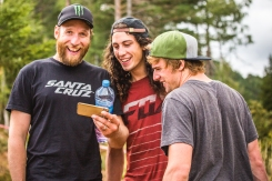 These three are always up to something, and this NSFW moment during track walk is a prime example. @stevepeat sharing a few odds and ends with @ratboy_bryce and @steelcitymedia.