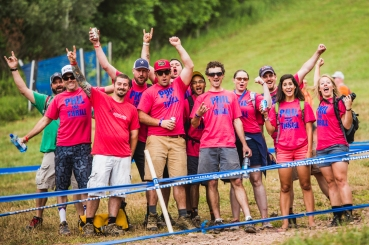 American racer Phil Kmets had quite the support group at Windham.