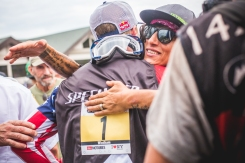 If you don't think this photo is totally rad, check your pulse; Gwin and Missy hug it out.