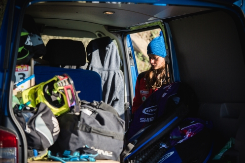 The nervous tension before the biggest race of the year hangs in the air around the pits. @steffimarth takes some time to gather her thoughts.