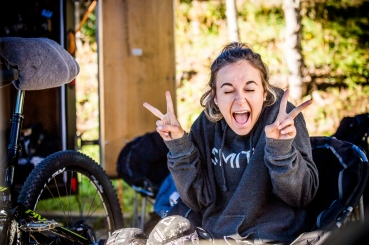 Always stoke and smiling, @veroniquesandler was pumped to race.