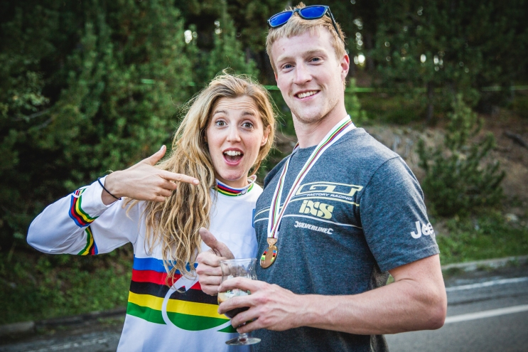 The winner and her mechanic; @rachybox and @joekrejbich made for an unstoppable force in 2015.