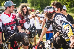 Everyone was stoked for Ratboy's win at MSA, as it was a huge triumph coming back from injury. Wyn gives the winner a fist-bump amid the melé of cheers and smies.