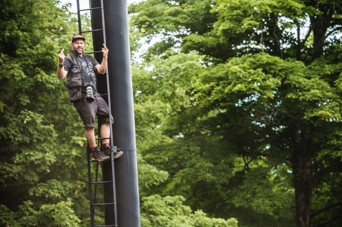 """This is how Sven felt when told he couldn't climb the lift towers due to """"safety regulations/liability reasons""""."""