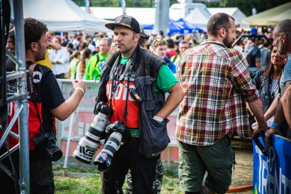 Two of the hardest working guys around, @mtbisokay and @svenmartinphoto keep their cameras close at hand, as the day isn't over until all the riders have gone home.