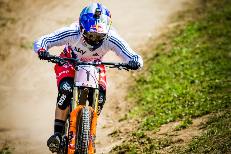 To witness Rachel Atherton's domination in person the last two seasons has been nothing short of extraordinary. Back-to-back World Cup Overall and World Champ wins, undefeated, she has 15 wins in a row, 22 if you count regional races as well. Sublime.