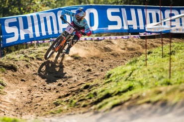All eyes are on Rachel Atherton here in Italy.