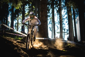 You could easily tell what kind of day Troy Brosnan was having: all white, all right; dirt-stained, in pain. He kept everything looking fresh though, and is on the hunt after the weather robbed him of the chance to try for the win in Andorra.