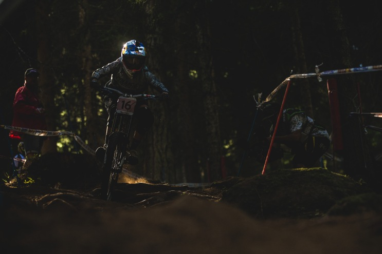 To say it was dark in the woods would be a gross understatement. Miriam Nicole perhaps wishes her GoPro was a headlamp.