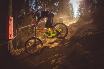 If it wasn't for his Health and Safety approved colorway on his bike, we'd never see Charlie Harrison coming through the shadows.