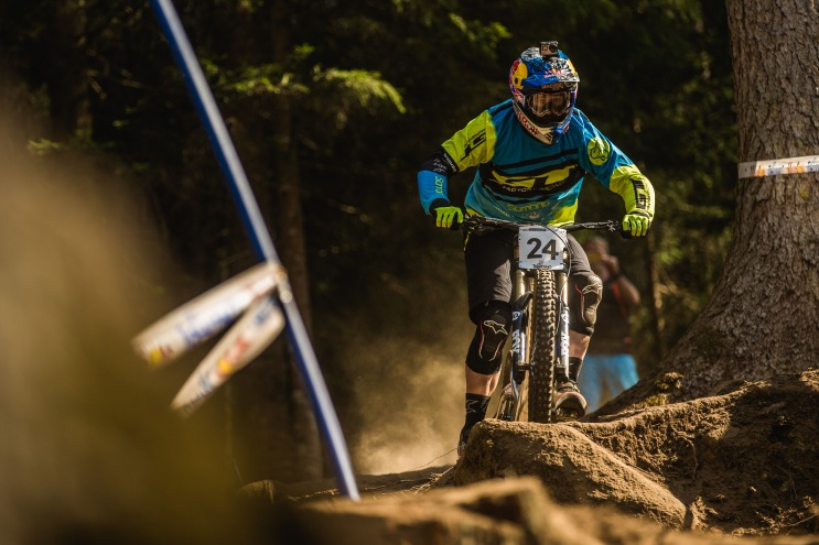 Looking particularly composed on track, Brook MacDonald was riding steady on line all day. With three days of practice, riders have more time to be methodical in their approach to the days preceeding the race.