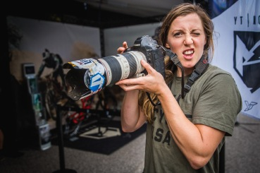 Rachel Atherton, paparazzi/job stealer. She actually knows what she is going with Sven's camera, and had some bangers tucked away on the memory card.