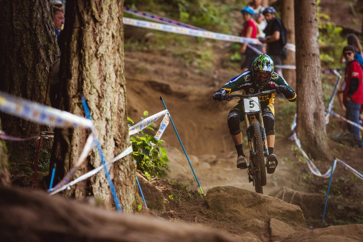 When Greg Minnaar rides by, everyone watches.