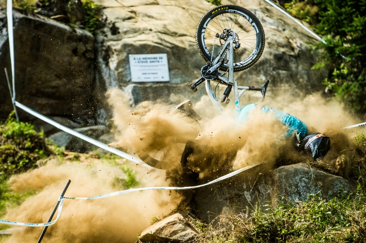 Shawn has had better days. This was a spectacular detonation. Bummed it's a crash, but it's quite a dynamic shot.
