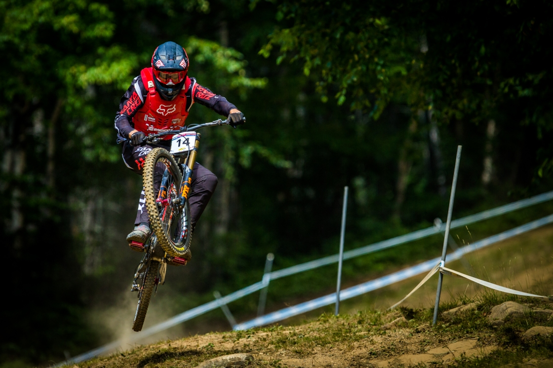 The original caption says it all: The most recent winner of MSA, Josh Bryceland is having more fun on track than the UCI regulations allow, but no one's said anything yet.