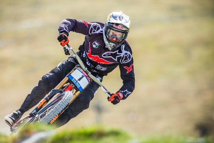 It's always hard to tell what Aaron Gwin is up to on track, as he practices at a staggeringly slower pace than his race-pace.
