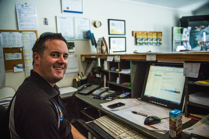 Fraser, making sure everything runs smoothly behind the scenes at KJet.