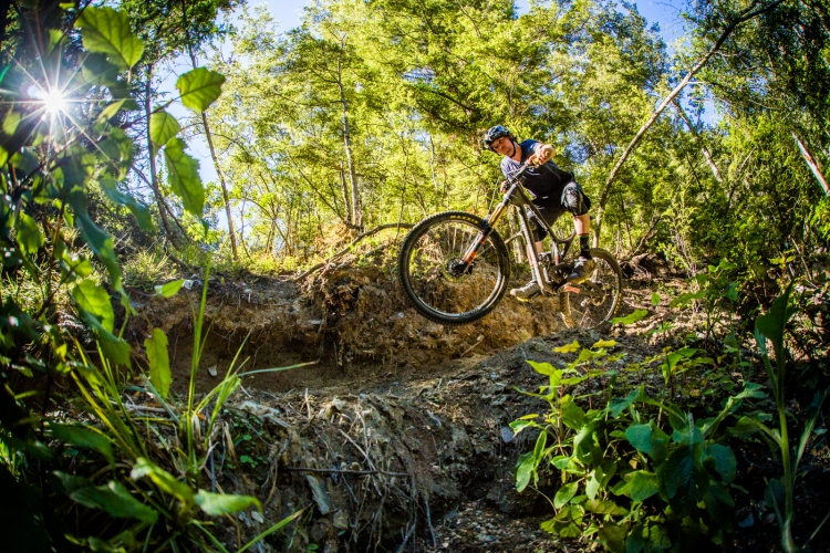The light is always right over head in Queenstown. Jake Hood finds himself in the spotlight on the new track up Fernhill, Salmon Run.